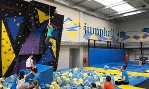 Jump Hall - Park Trampolin: Urodziny dla maks. 10 dzieci w Parku Trampolin Jump Hall od 299,99 zł (do -40%)