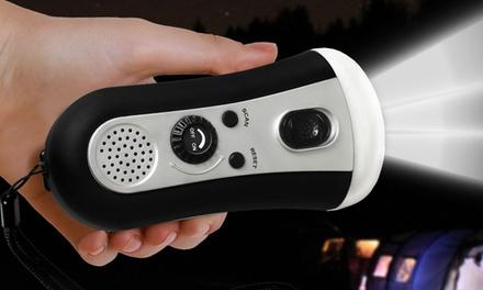 One or Two Dynamo Emergency Radios with LED Flashlight