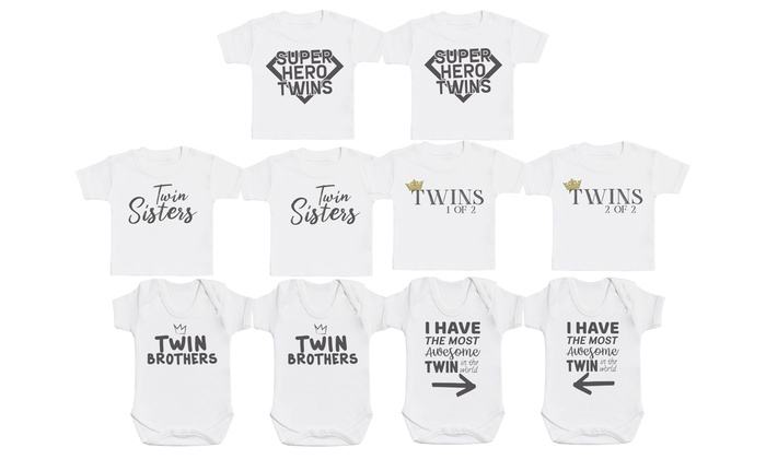 Twins Matching T-Shirt or Baby Bodysuits