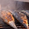 Steckerlfisch (Makrele) und Getränk