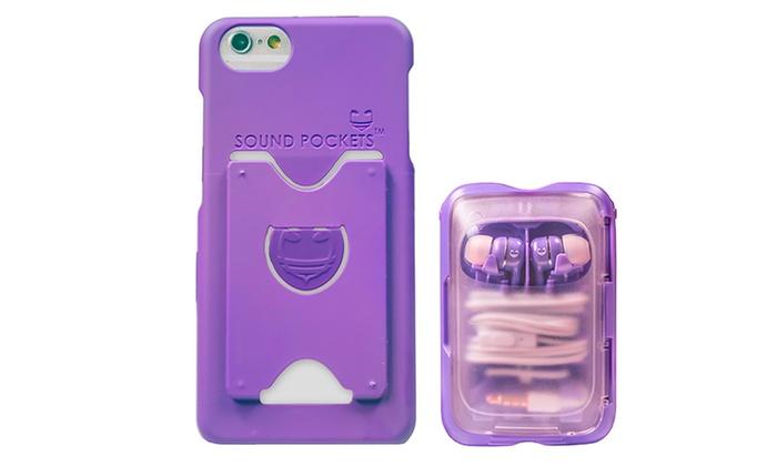 Earbuds case purple - hardshell earbud case