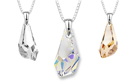 Crystal Polygon Pendant with Swarovski Elements in Sterling Silver