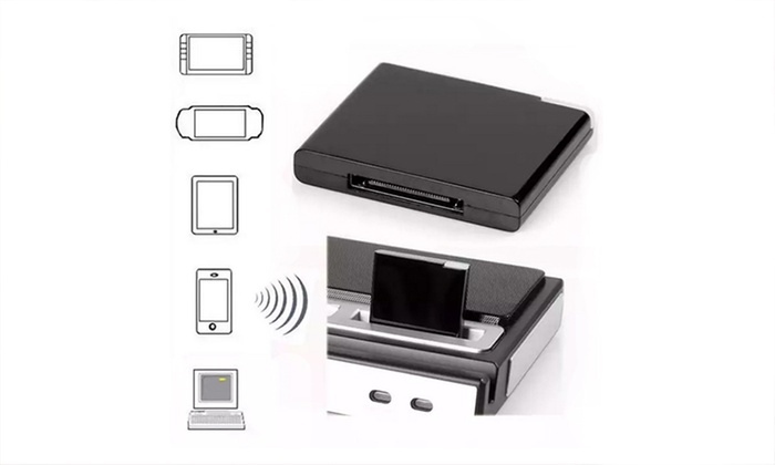 bluetooth 30 pin dock adapter groupon goods. Black Bedroom Furniture Sets. Home Design Ideas