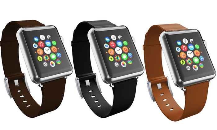 huge selection of e7b5d 2326e Incipio Leather Strap for 38mm Apple Watch   Groupon