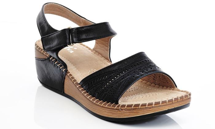 Lady Godiva Women's Comfort Wedge Sandal