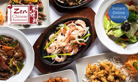TwoCourse Chinese Dinner with Wine for Two $35 or Four People $65 at Zen Chinese Restaurant Up to $140.80 Value