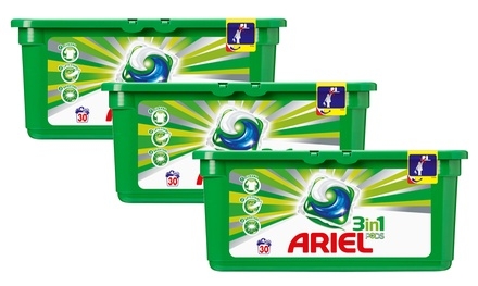 90, 180, 270 ou 360 capsules Ariel Pods 3 en 1