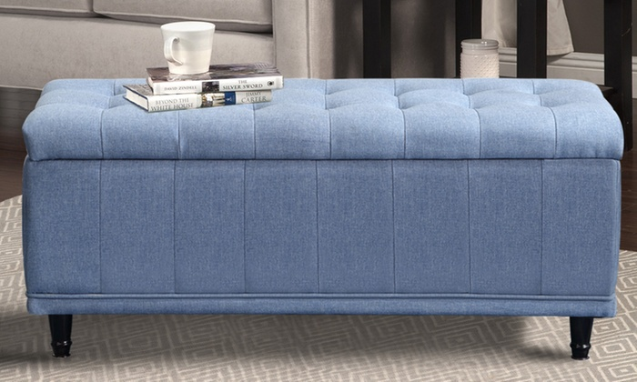 Outstanding Seating And Storage Ottoman Groupon Pdpeps Interior Chair Design Pdpepsorg