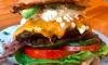 Burger und Beilage nach Wahl