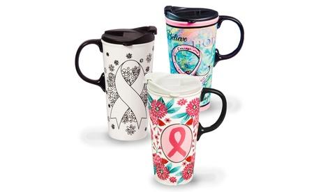 Just Add Color Ceramic Travel Cup (17 Oz.) ed30e45c-035a-11e7-ae98-00259069d7cc