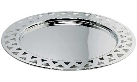 Alessi 48cm Round Tray with Pierced Edge