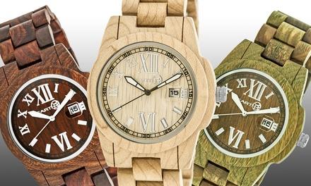 Earth Wood Heartwood Eco-Friendly Sustainable Wood Bracelet Watch