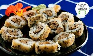 Zaki Sushi: Rodízio japonês tradicional e/ou vegano + sobremesa para 1, 2 ou 4 pessoas no Zaki Sushi – Asa Norte