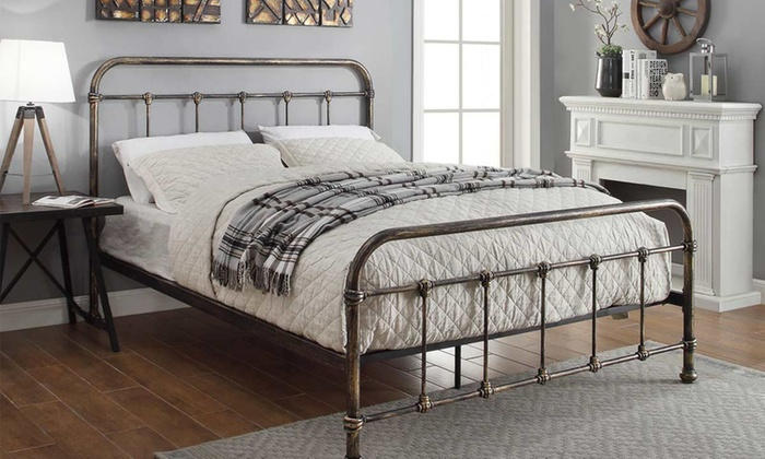 Burford Antique-Style Bedframe with Optional Mattress from £140 (64% OFF)