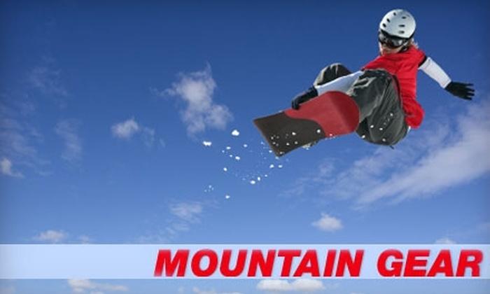 Mountain Gear - Logan: $18 for a Ski or Snowboard Tune-Up ($38 Value) or $6 for a Ski or Snowboard Wax ($12 Value) at Mountain Gear