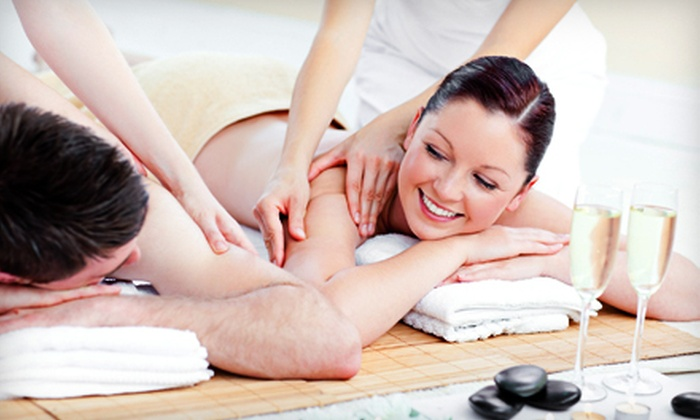 CC Spa - New Albany: $59 for a Couples-Massage Package with Wine, Chocolates, and a Foot Soak at CC Spa in New Albany (Up to $140 Value)