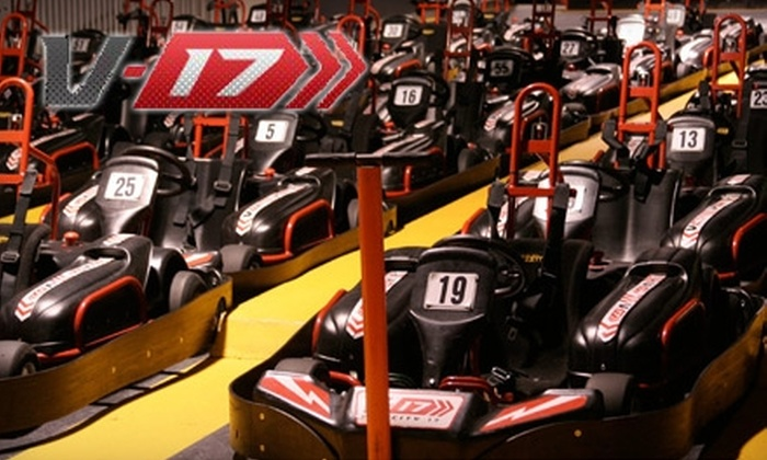 Velocity 17 - Maywood: Up to 53% Off Laser Tag, Go-Karts, and More at Velocity 17.  Choose from Four Options.
