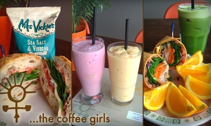 …the coffee girls - Ward Parkway: $5 for $10 Worth of Coffee, Sandwiches, Smoothies, and More at …the coffee girls
