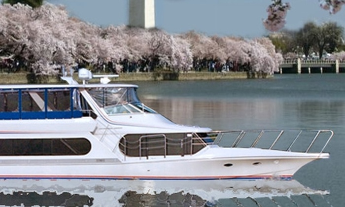 Fort Washington Potomac River Tours - Fort Washington: $40 for a Cherry Blossom Boat Tour on the Motor Yacht Pelican in National Harbor ($80 Value). Eighteen Dates Available.