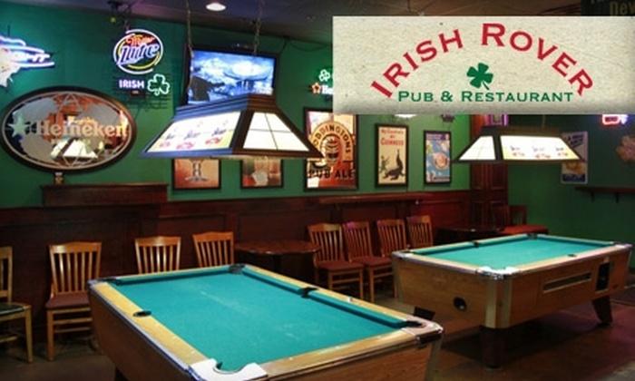 Irish Rover Pub & Restaurant - The Centre At Preston Ridge: $10 for $25 Worth of Traditional Irish Fare at Irish Rover Pub & Restaurant in Frisco