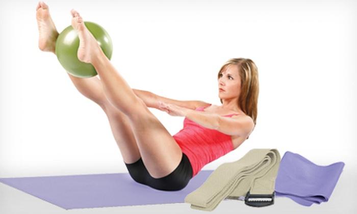 Danskin Eight-Piece Yoga Kit: $19 for a Danskin Now Eight-Piece Yoga Kit with Exercise Ball, Yoga Mat, and DVD ($30 Value)