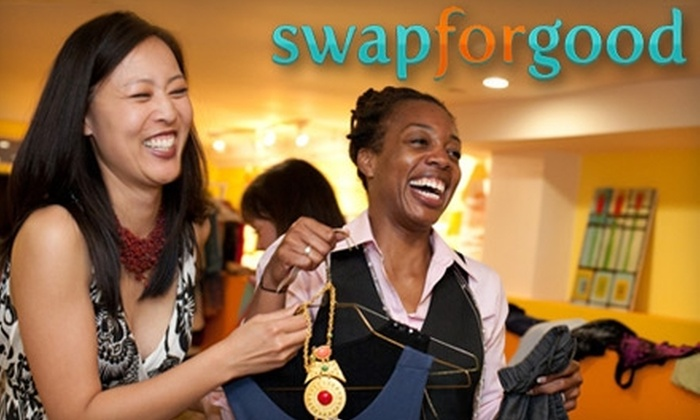 "Swap for Good - Lincoln Park: Donate $15 and Get Free Clothes from Fellow Donors at a ""Swap for Good"" Party on Nov. 3 to Benefit Local Domestic Violence Agency"