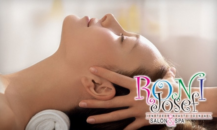 Roni Josef International Salon & Spa - Multiple Locations: $39 for an Essential Facial ($80 Value) or $37 for a Holistic Massage ($75 Value) at Roni Josef International Salon & Spa in the Stratosphere or Henderson