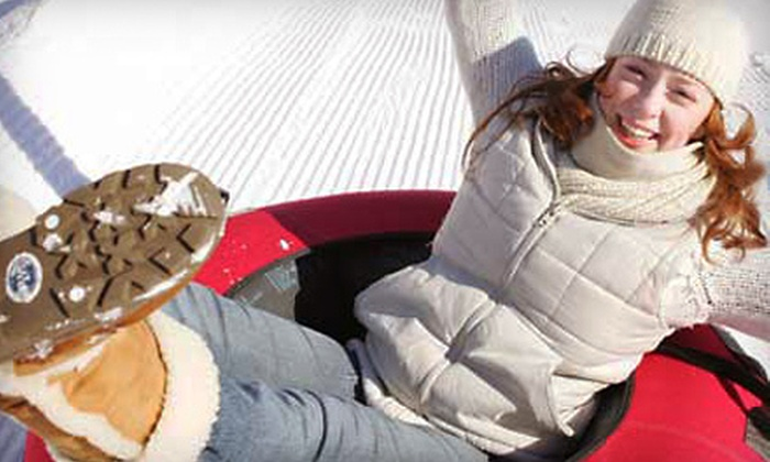Mountain Creek - Sand Hills: Drop Zone Snow Tubing Park Outing for Two or Four at Mountain Creek in Vernon (Up to 51% Off)