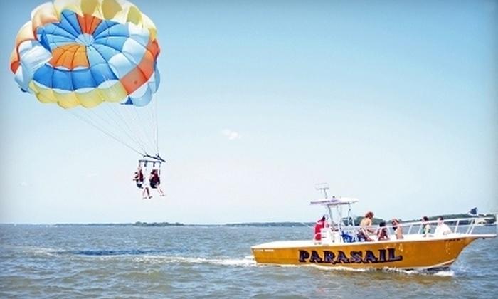 Palmetto Bay Parasailing - Hilton Head Island: $28 for One Parasailing Ride from Palmetto Bay Parasailing on Hilton Head Island ($65 Value)