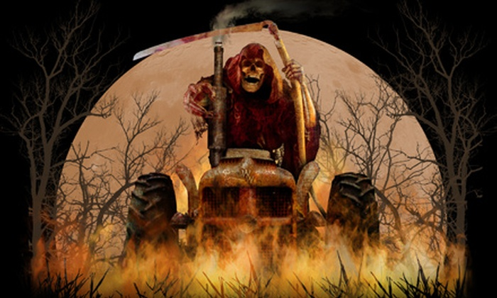 Witch's Woods - Westford: Haunted Hayride and Halloween-Park Outing for Two or Four at Witch's Woods
