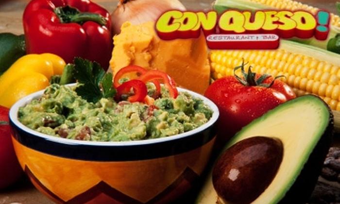 Con Queso Restaurant & Bar - McKinney: $10 for $20 Worth of Latin-Inspired Cuisine at Con Queso Restaurant & Bar in McKinney