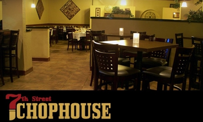7th Street Chophouse - Central San Pedro: $25 for $50 Worth of Tender Steaks and Drinks at 7th Street Chophouse