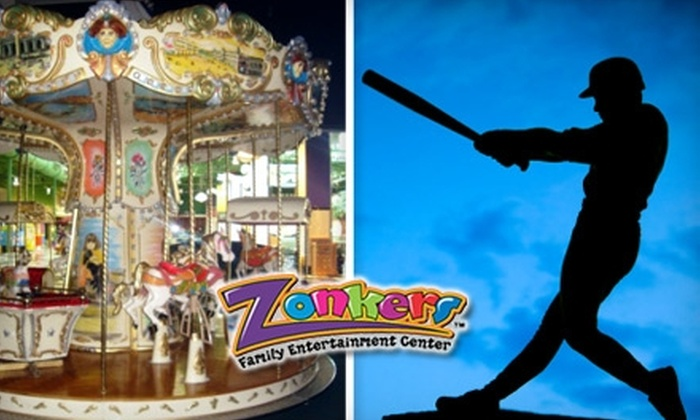 Zonkers - The Great Mall: $10 for 30 Minutes of Batting Cage Use and Unlimited Rides at Zonkers ($24.99 Value)