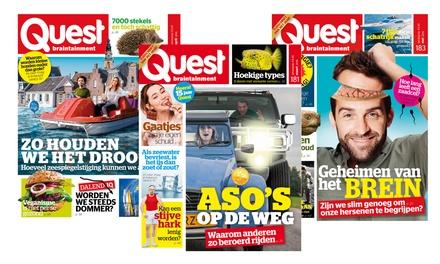 6 of 12 nummers Quest Magazine, je abonnement stopt automatisch