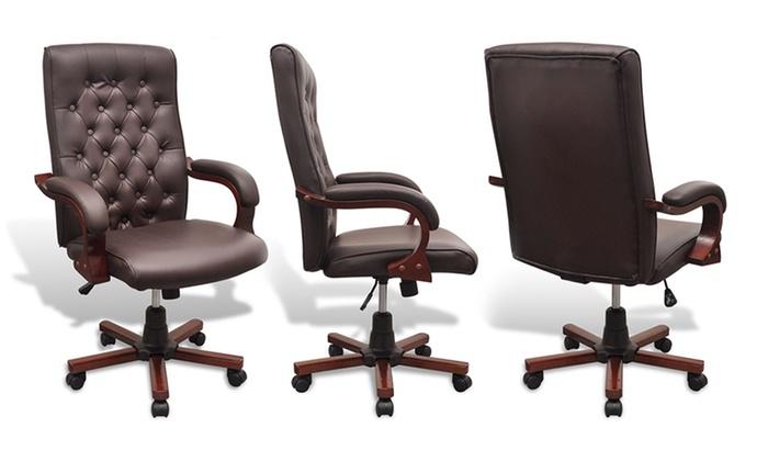 fauteuil de bureau classique groupon. Black Bedroom Furniture Sets. Home Design Ideas