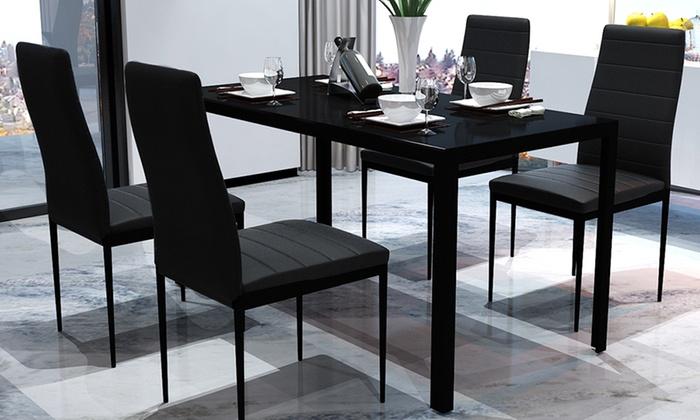 Eetkamertafel met stoelen groupon goods