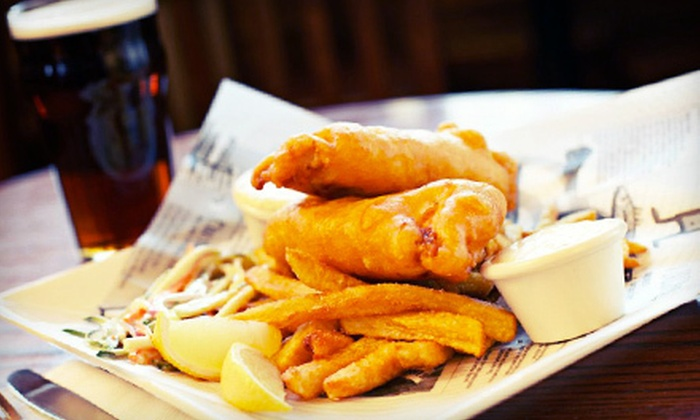 Fallon's Bar & Grill - Olivette: Irish-American Pub Meal with Drinks for Two or Four at Fallon's Bar & Grill in Olivette (Up to 58% Off)
