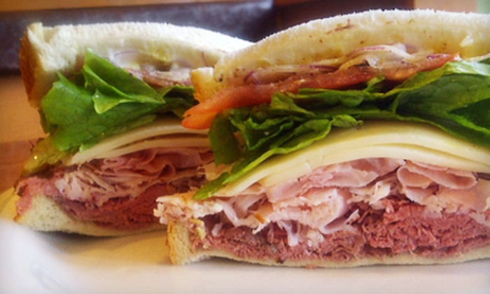 Favorite Deli - Fairburn: Meal with Sandwiches or Salads and Sodas for 2 or 4 or Catered Meal with Sandwiches, Chips, and Brownies for 15 at Favorite Deli in Fairburn