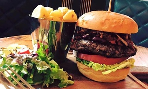 Institution Bar: Burger and Drink for One or Two at Institution Bar (Up to 45% Off)