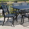 Bodden Aluminum Patio Dining Set with 6 Chairs and 1 Table