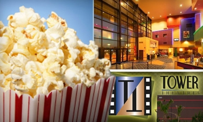 Tower Theatres - Continental Ranch Retail Center: $16 for Two Movie Tickets, Two Medium Drinks, and Large Popcorn at Tower Theatres (Up to $33.50 Value)
