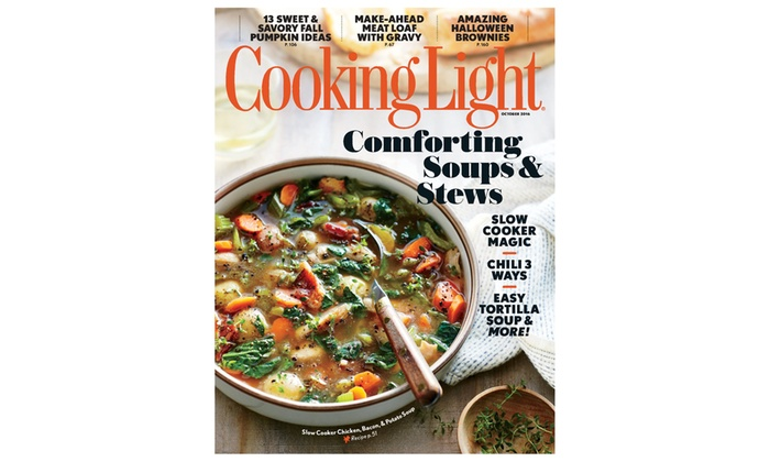 1  Or 2 Year Subscription To Cooking Light Magazine