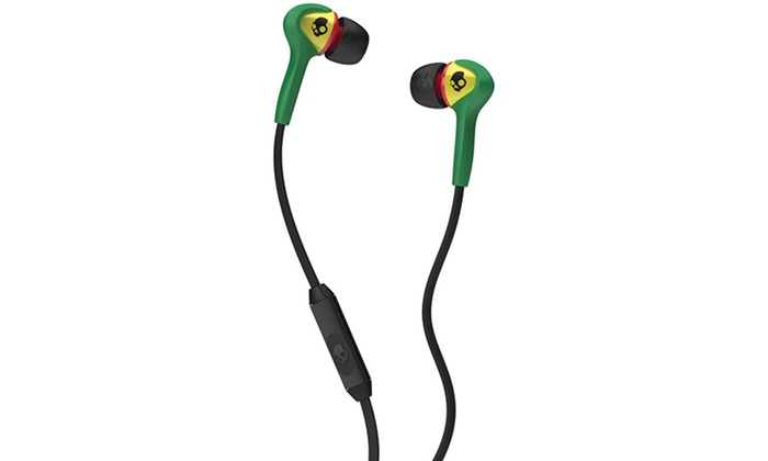 skullcandy smokin earbuds with supreme sound  microphone