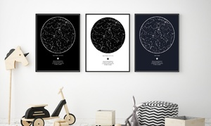 My Sky Moment: Personalised Star Map with Free Delivery from My Sky Moment (57% Off)