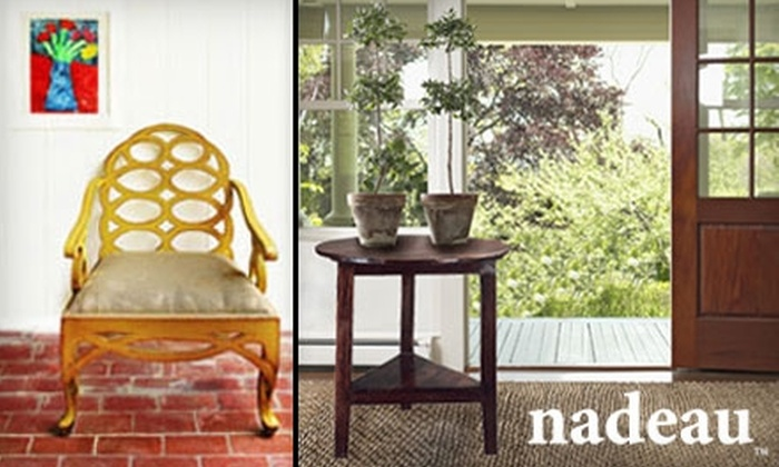 Nadeau - West Hollywood: $40 for $100 Worth of Home Furnishings at Nadeau