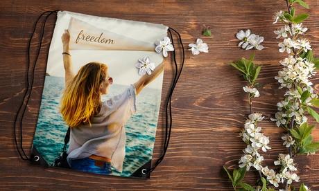 Personalisierte Foto-Kordelzug-Tasche von Printerpix