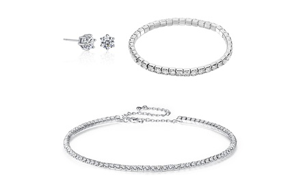 Three-Piece Jewellery Set made with Crystals from Swarovski®