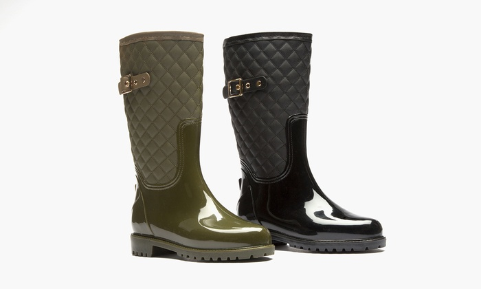 Sociology Katelyn Women's Quilted Rain Boot (Size 6) | Groupon