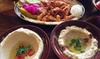 Selection of Seven Mezze Dishes