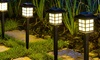 Two-Pieces Solar-Powered Outdoor Pathway Lights